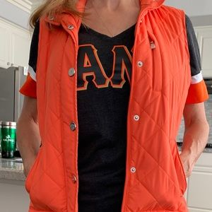 Lauren Ralph Lauren Orange zip vest